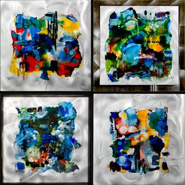 Jon Allen, Fine Metal Art , Artist's Collection, Metal, Home Decor, Abstract, Colors, Contemporary, Modern