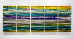 jon allen, art, fine metal art, statements2000, contemporary art, modern art, contemporary art, abstract art, organic sunset, metal wall art, metal wall sculpture