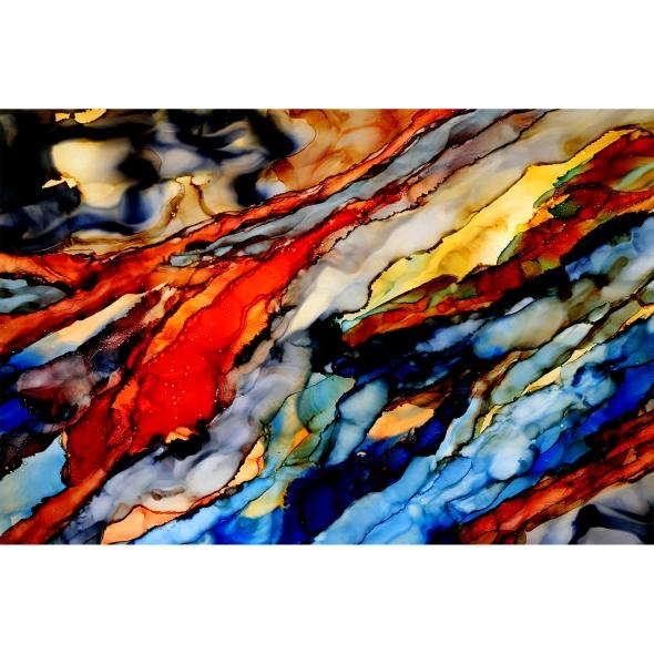 jac168-jon-allen-hand-painted-abstract-painting-earthtones-metal-art 2
