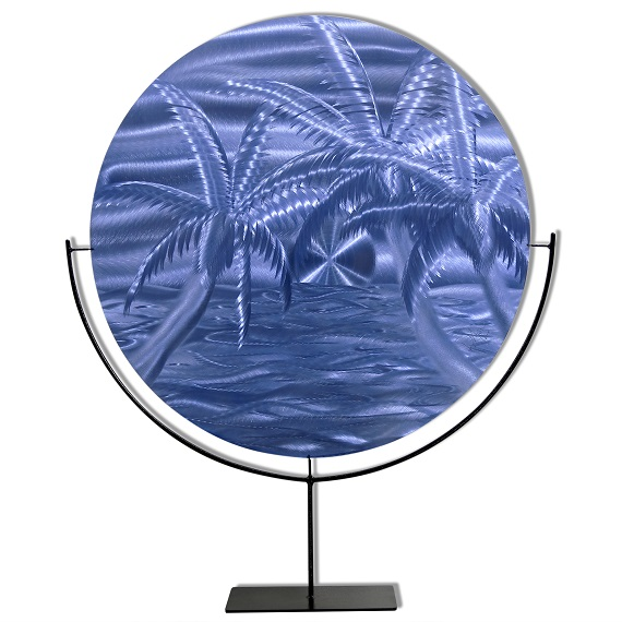 Azure Beach Circle on Stand